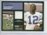 2001 Fleer Tradition Rookie Retro Threads #8 Quincy Carter JSY