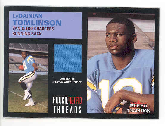2001 Fleer Tradition Rookie Retro Threads #38 LaDainian Tomlinson JSY