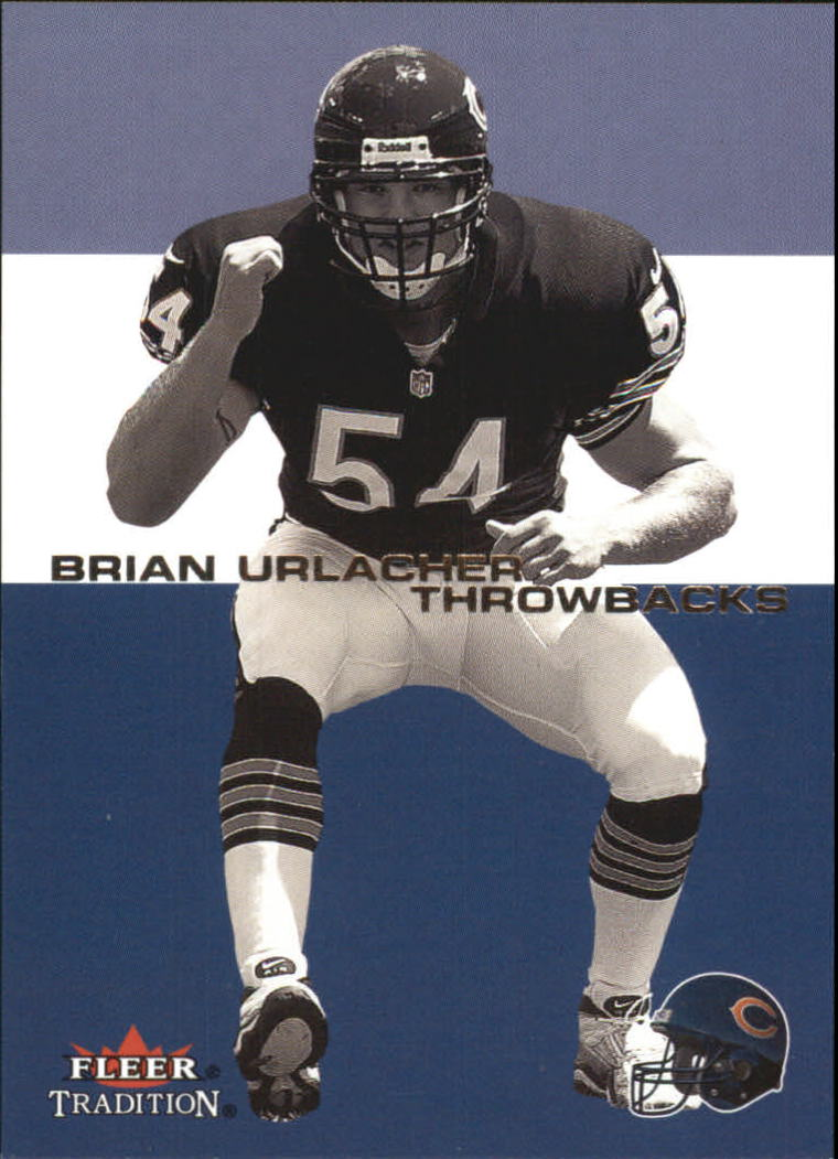 2001 Fleer Tradition Throwbacks #8 Brian Urlacher