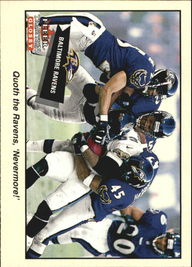 2001 Fleer Tradition Glossy #341 Baltimore Ravens TC
