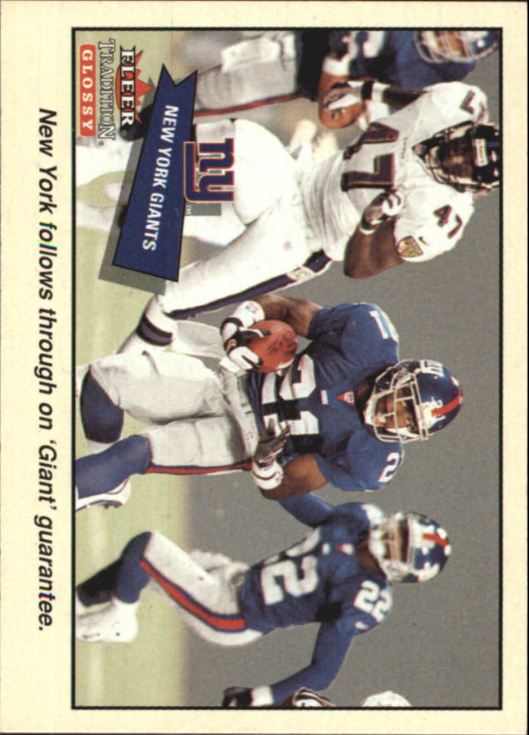 2001 Fleer Tradition Glossy #358 New York Giants TC