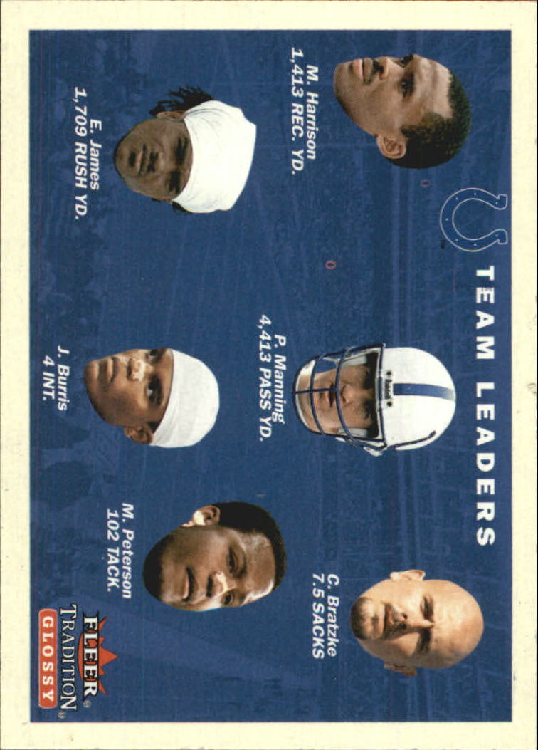 2001 Fleer Tradition Glossy #371 Indianapolis Colts TL