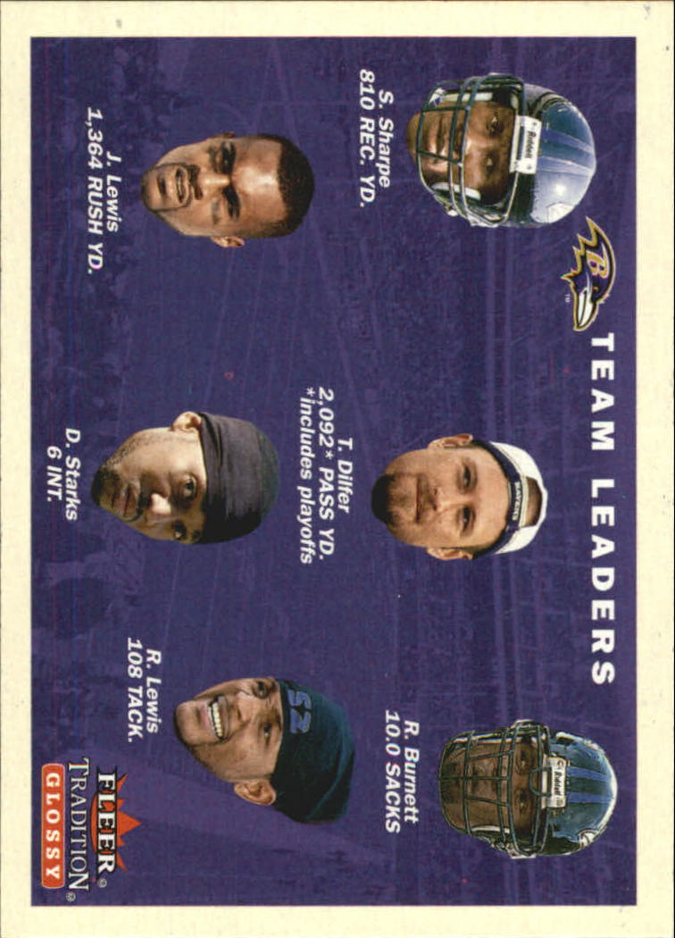 2001 Fleer Tradition Glossy #375 Baltimore Ravens TL