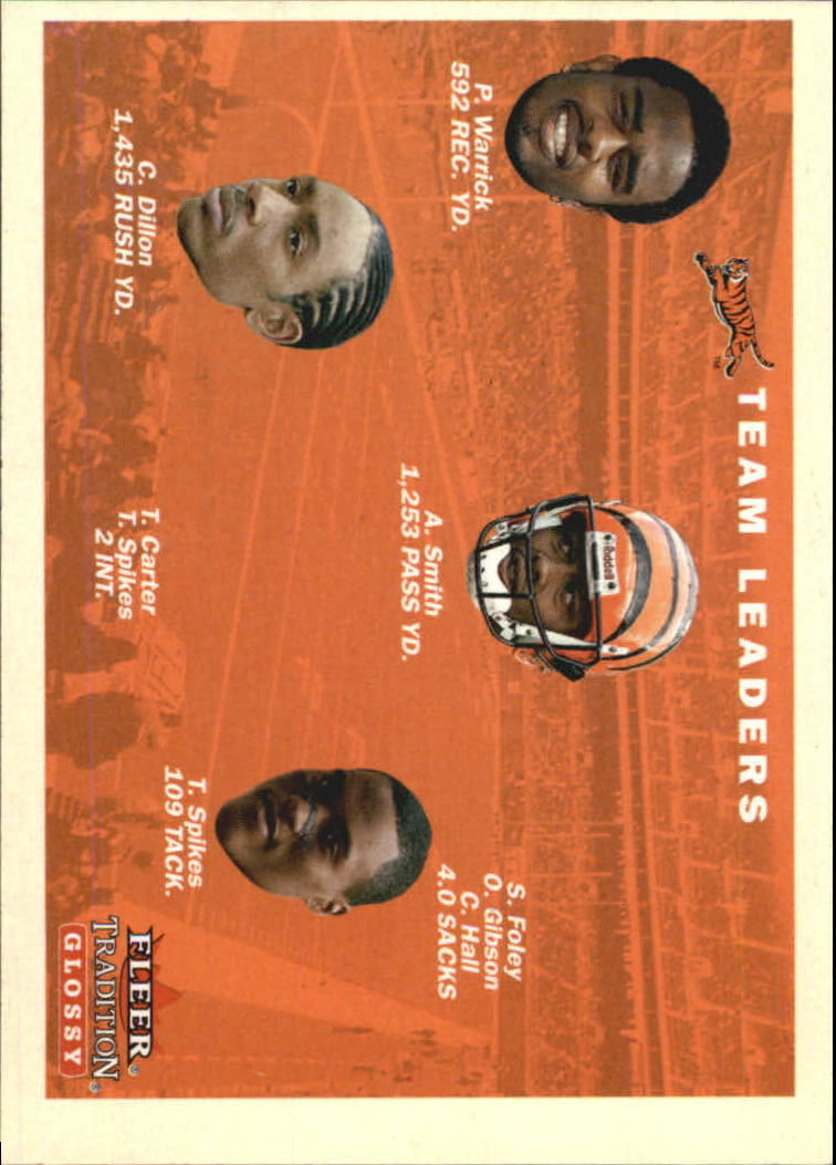 2001 Fleer Tradition Glossy #376 Cincinnati Bengals TL