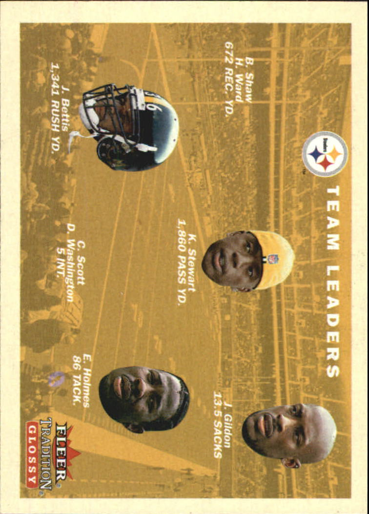 2001 Fleer Tradition Glossy #379 Pittsburgh Steelers TL