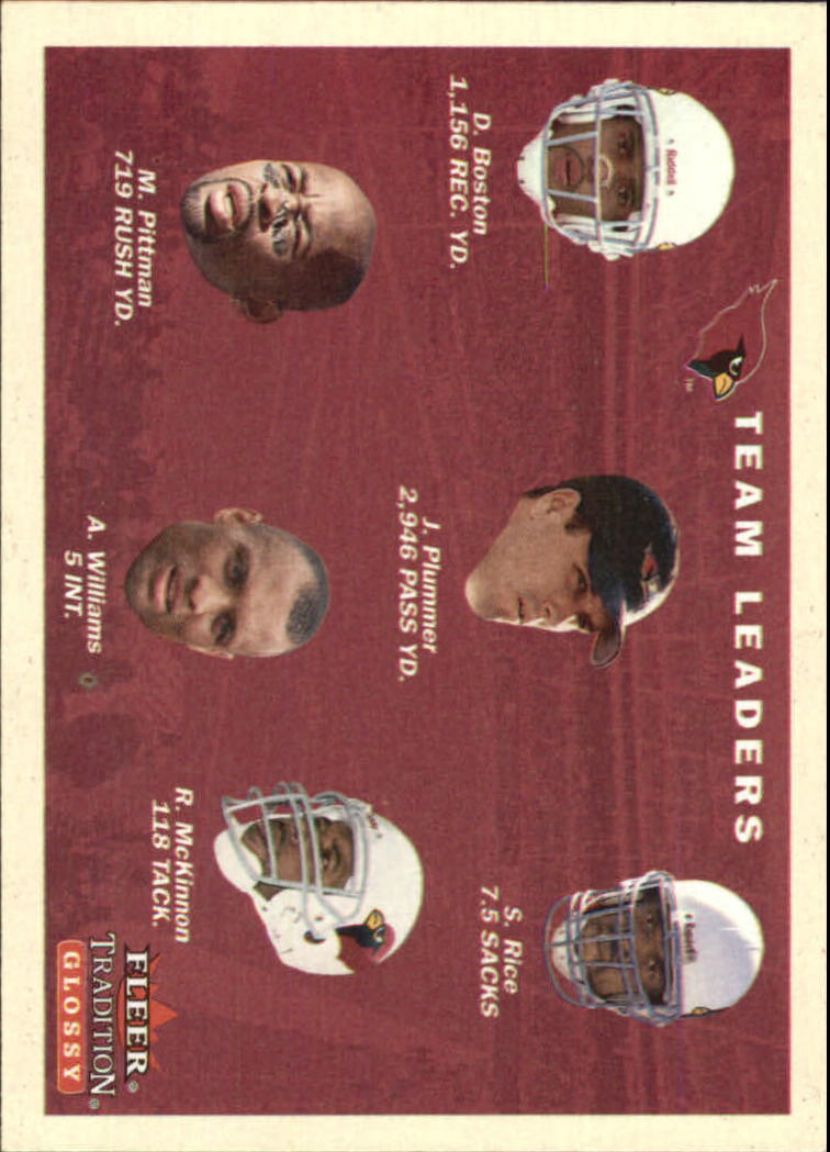 2001 Fleer Tradition Glossy #386 Arizona Cardinals TL