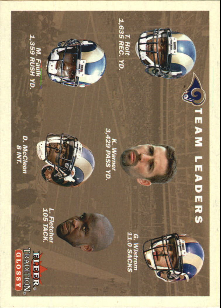 2001 Fleer Tradition Glossy #400 St. Louis Rams TL