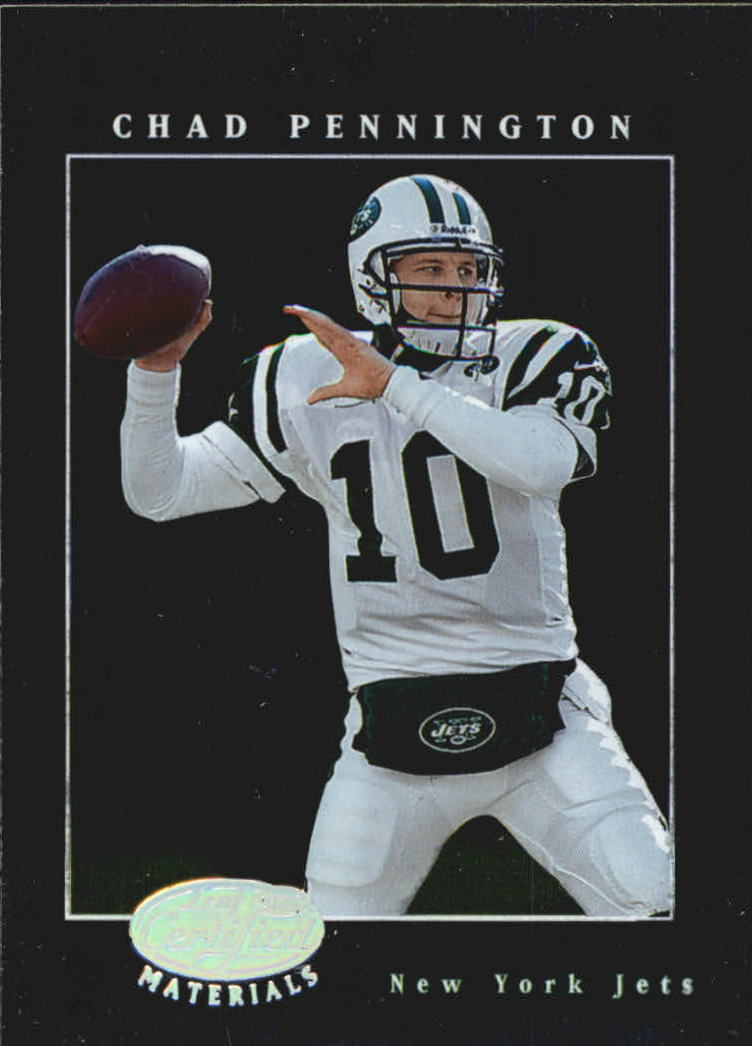 2001 Leaf Certified Materials #13 Chad Pennington