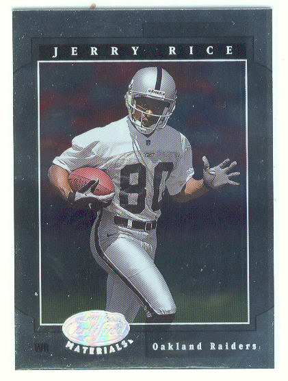 2001 Leaf Certified Materials #47 Jerry Rice