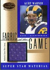 2001 Leaf Certified Materials Fabric of the Game #59BA Kurt Warner B