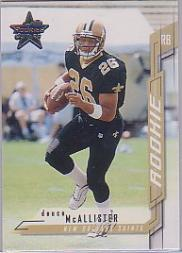 2001 Leaf Rookies and Stars #221 Deuce McAllister RC