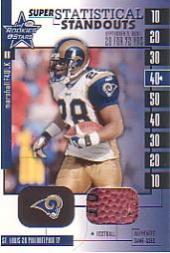 2001 Leaf Rookies and Stars Statistical Standouts Supers #SS13 Marshall Faulk