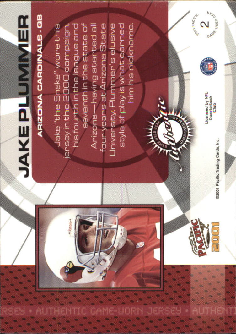 2001 Pacific Game Gear #2 Jake Plummer J