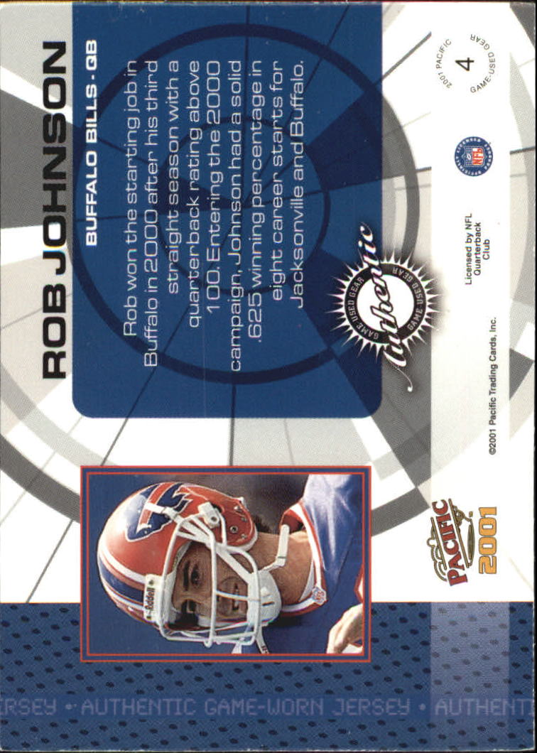 2001 Pacific Game Gear #4 Rob Johnson J