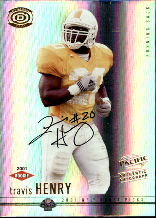2001 Pacific Dynagon #116 Travis Henry AU RC