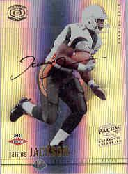 2001 Pacific Dynagon #117 James Jackson AU RC