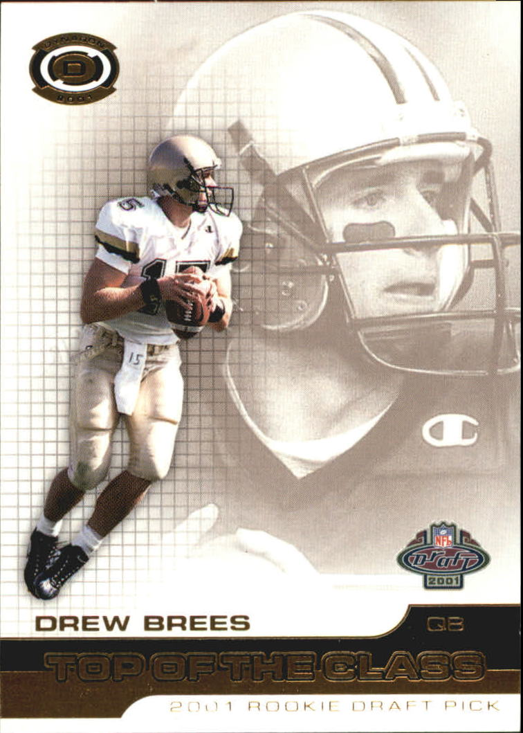2001 Pacific Dynagon Top of the Class #3 Drew Brees