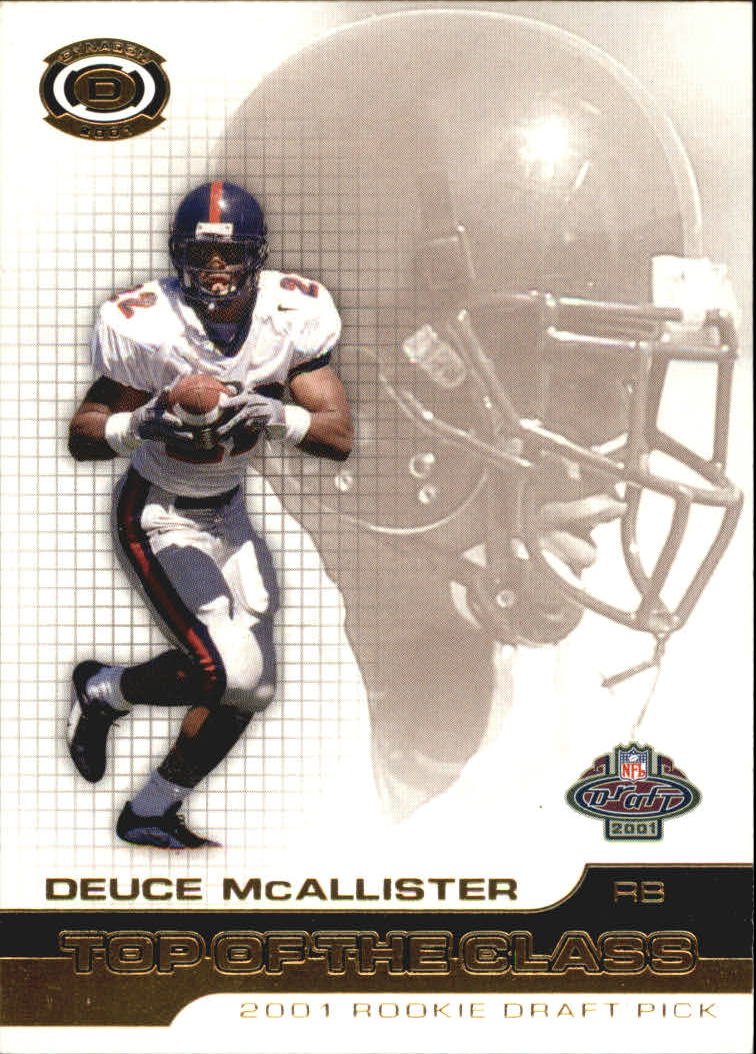 2001 Pacific Dynagon Top of the Class #11 Deuce McAllister