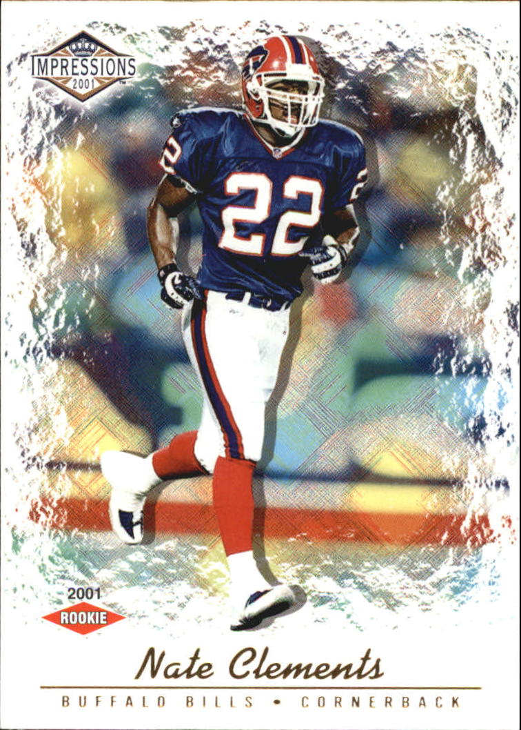 2001 Pacific Impressions Hobby Red Backs #153 Nate Clements