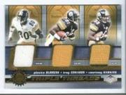2001 Pacific Impressions Triple Threads #31 Plaxico Burress/Troy Edwards/Courtney Hawkins