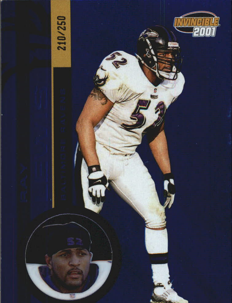 2001 Pacific Invincible Blue #19 Ray Lewis