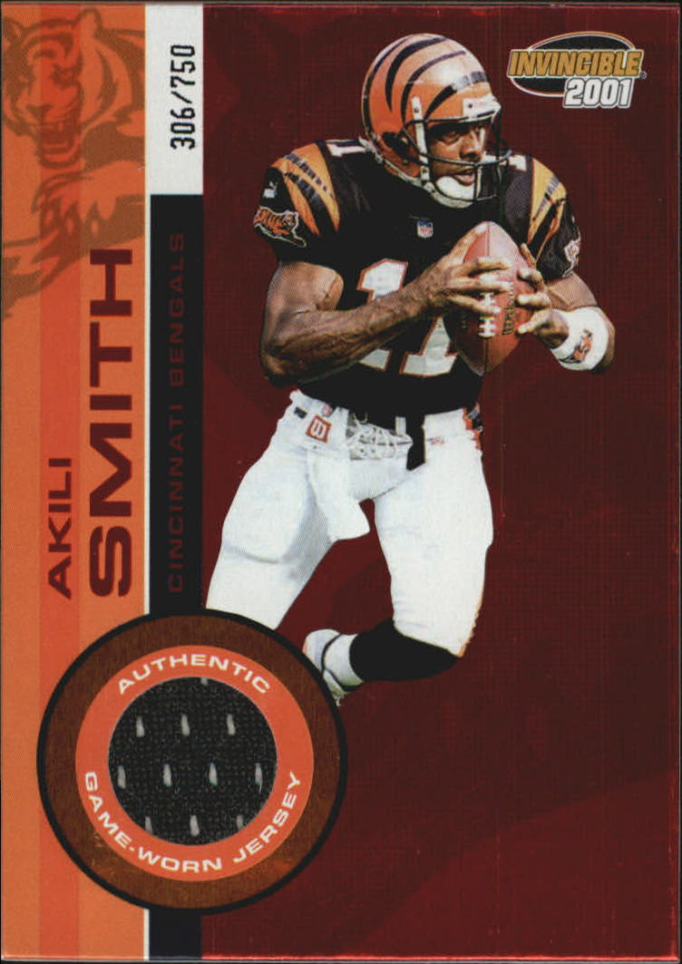 2001 Pacific Invincible Red #52 Akili Smith JSY