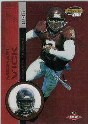 2001 Pacific Invincible Red #254 Michael Vick