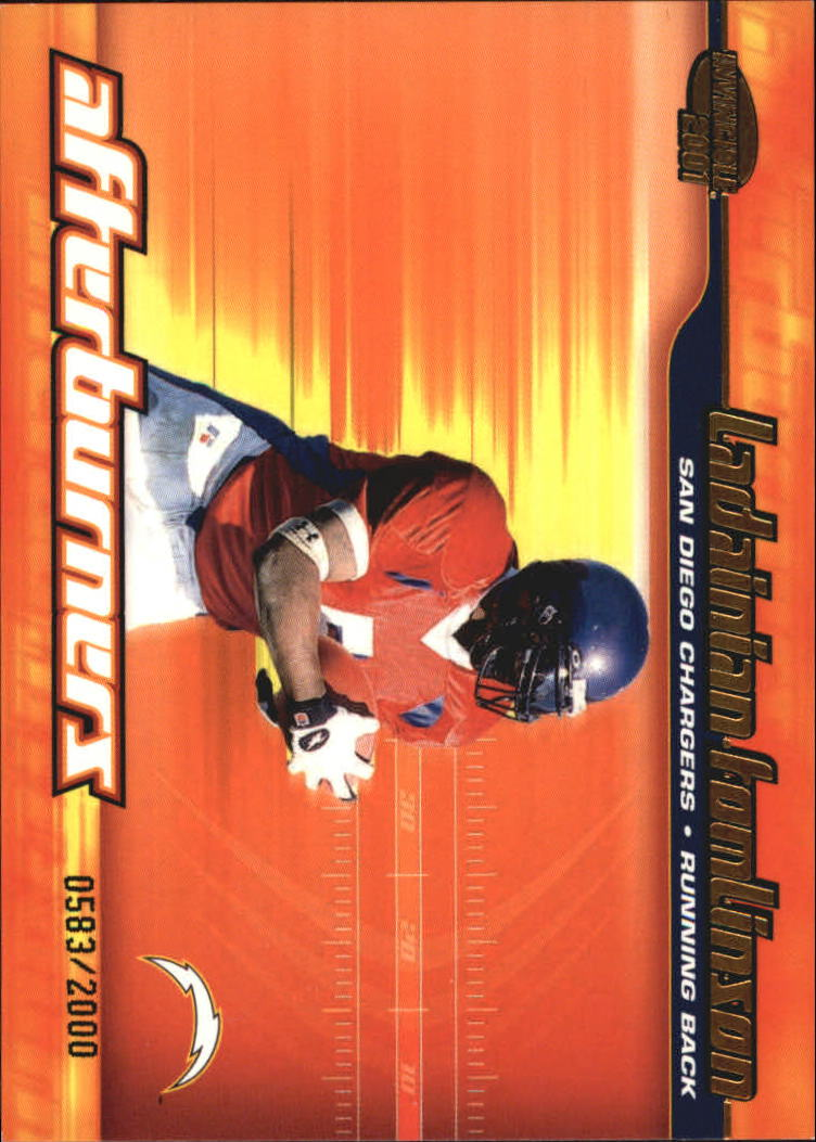 2001 Pacific Invincible Afterburners #19 LaDainian Tomlinson