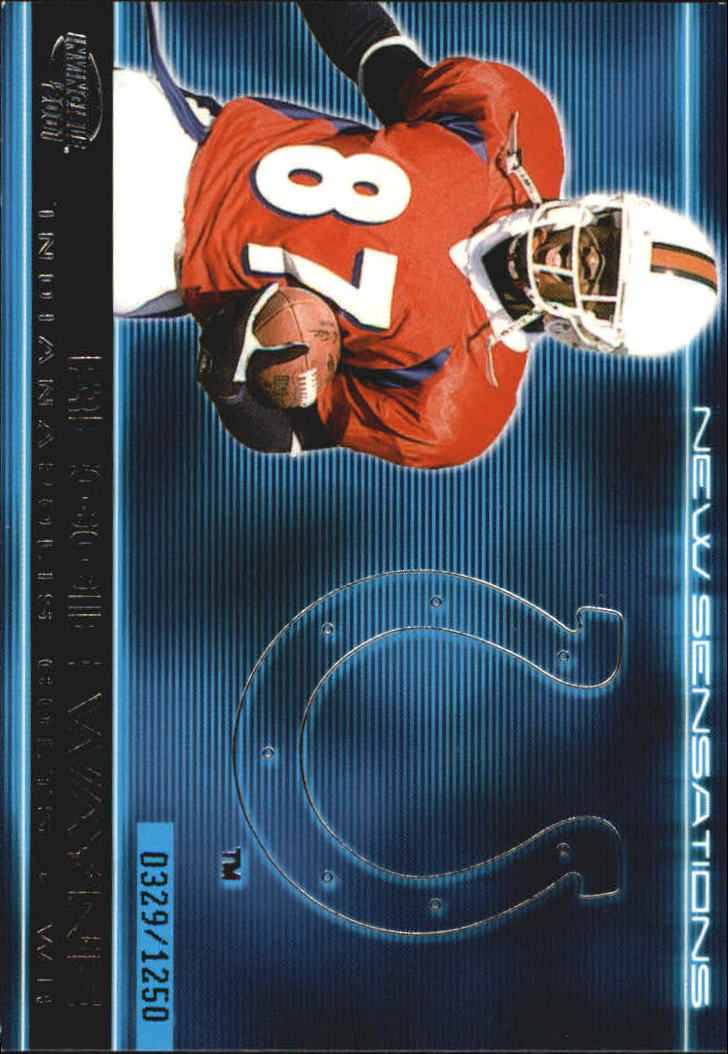 2001 Pacific Invincible New Sensations #11 Reggie Wayne
