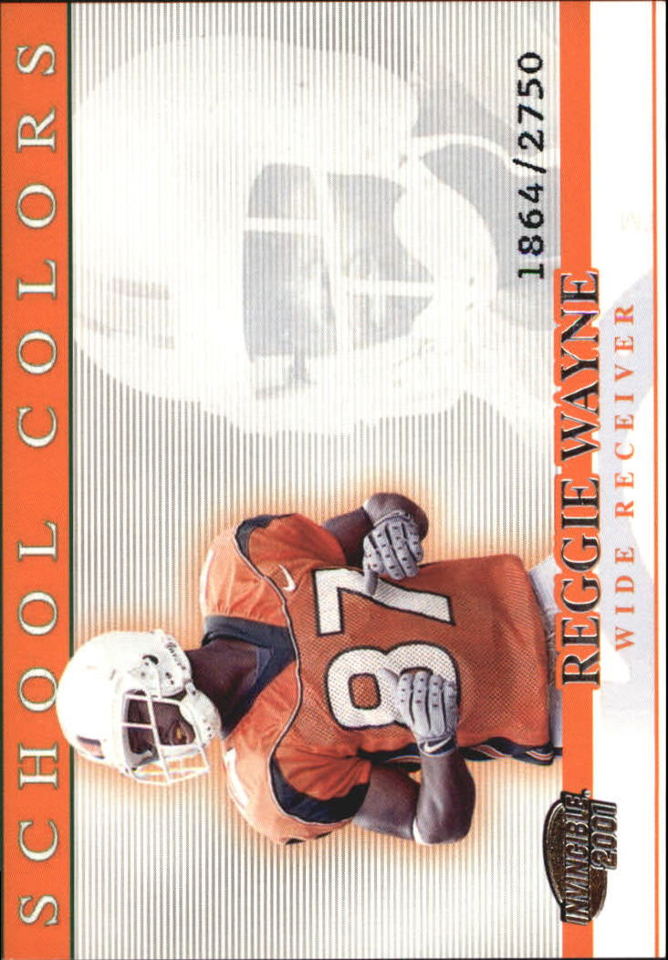 2001 Pacific Invincible School Colors #19 Reggie Wayne