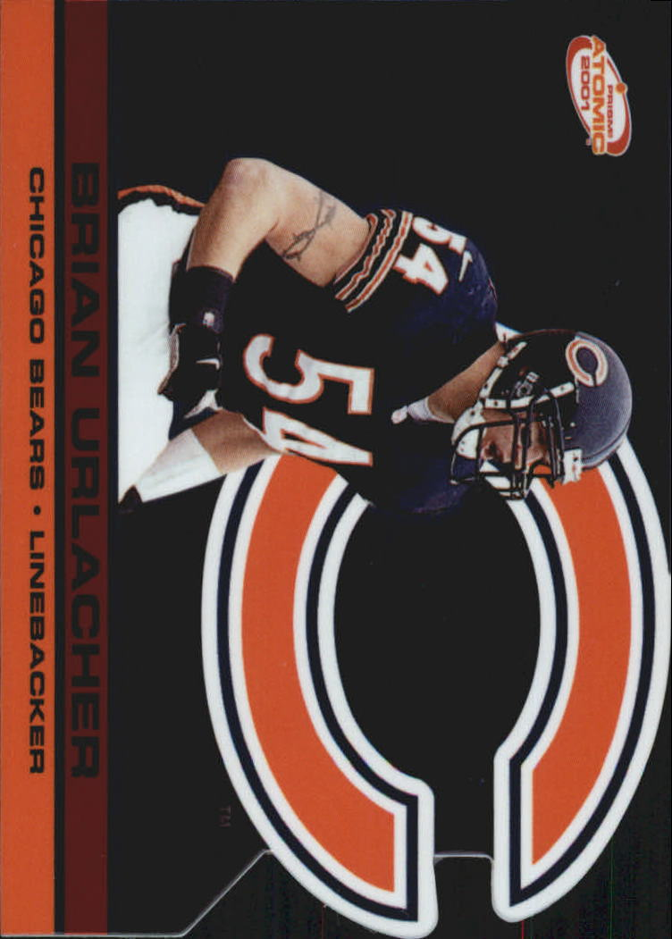 2001 Pacific Prism Atomic Red #28 Brian Urlacher