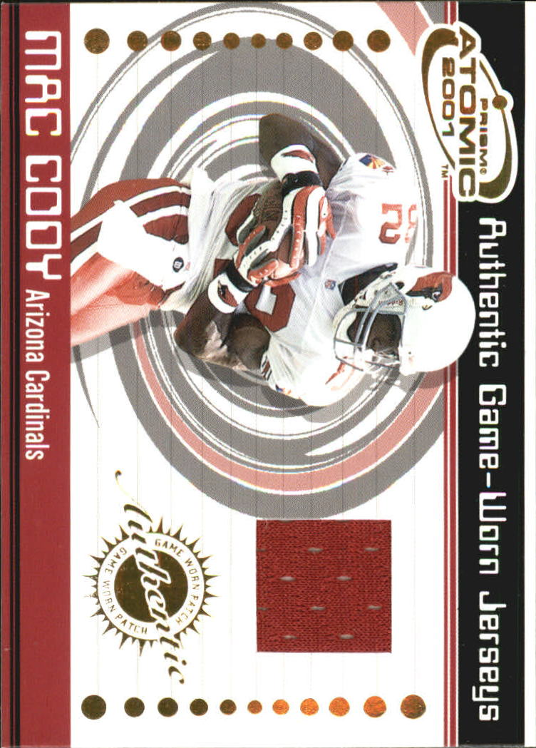 2001 Pacific Prism Atomic Jerseys #1 Mac Cody front image
