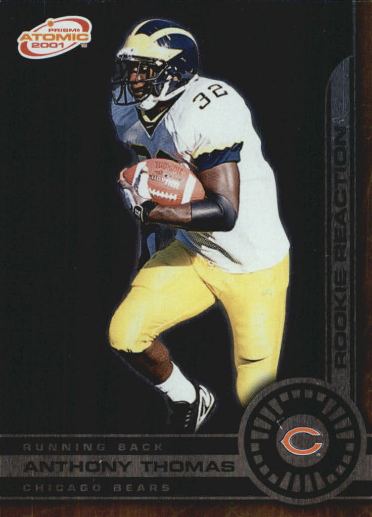 2001 Pacific Prism Atomic Rookie Reaction #5 Anthony Thomas