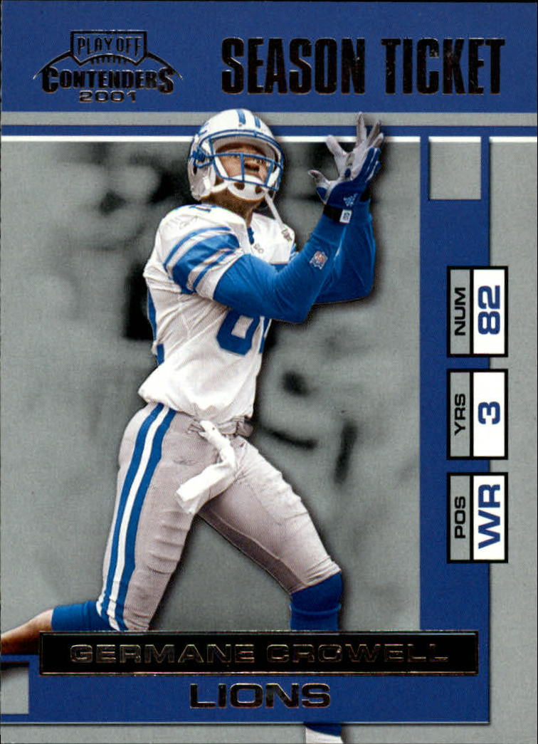 2001 Playoff Contenders #29 Germane Crowell
