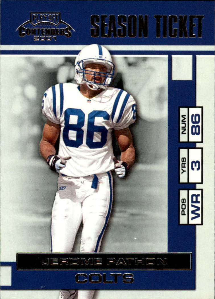 2001 Playoff Contenders #37 Jerome Pathon
