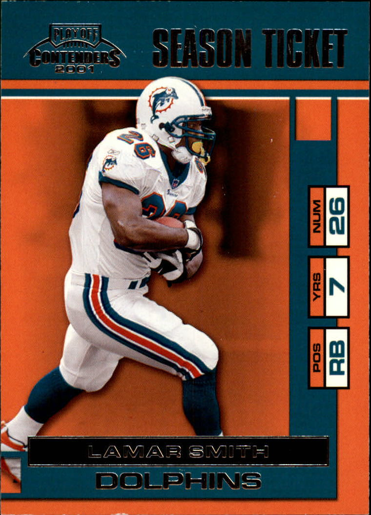 2001 Playoff Contenders #47 Lamar Smith
