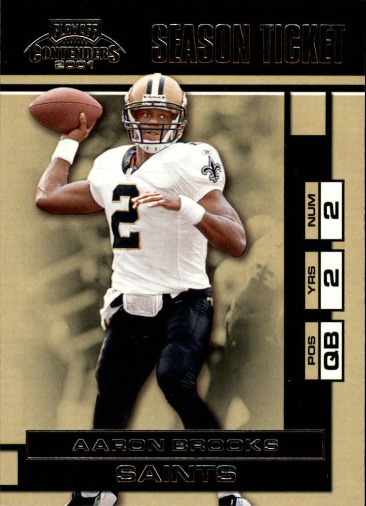 2001 Playoff Contenders #56 Aaron Brooks