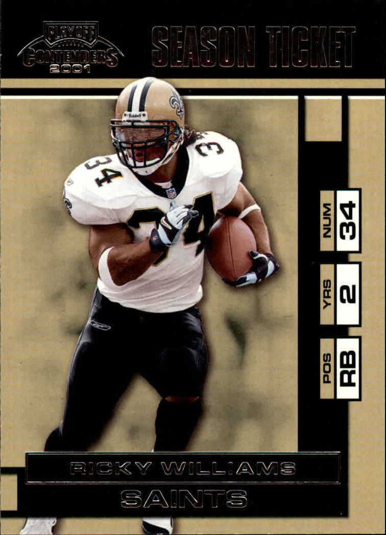 2001 Playoff Contenders #57 Ricky Williams