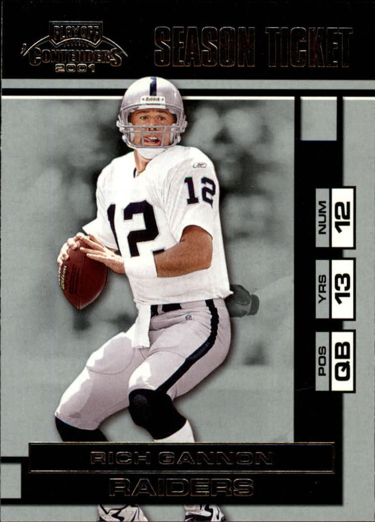 2001 Playoff Contenders #67 Rich Gannon