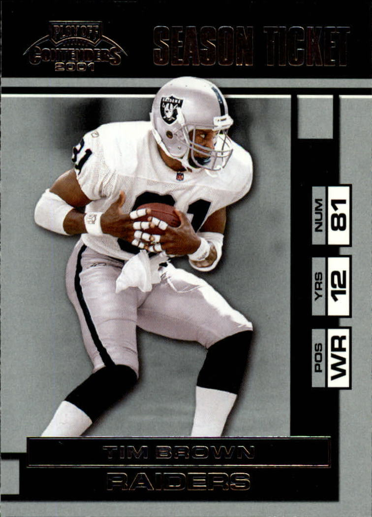 2001 Playoff Contenders #69 Tim Brown