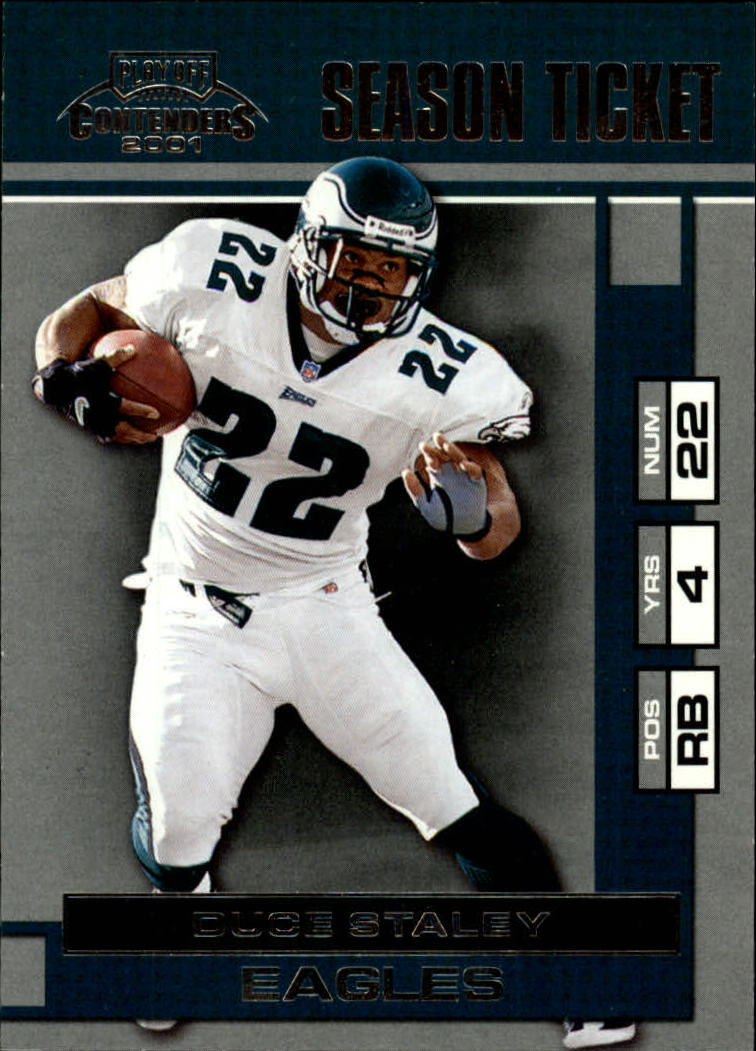 2001 Playoff Contenders #72 Duce Staley