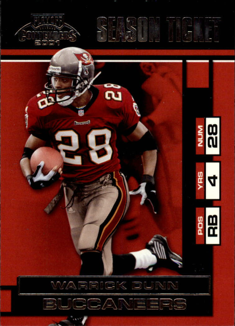 2001 Playoff Contenders #92 Warrick Dunn