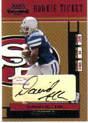 2001 Playoff Contenders #120 David Allen AU RC