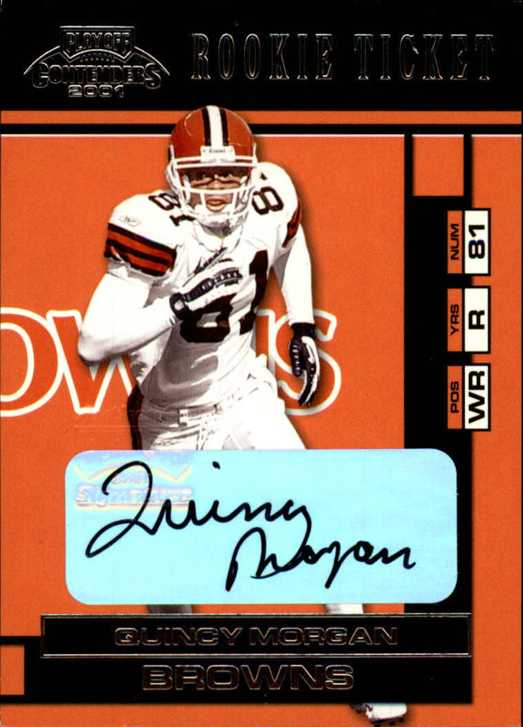 2001 Playoff Contenders #163 Quincy Morgan AU RC