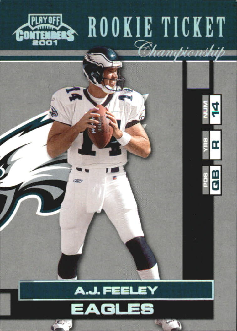 2001 Playoff Contenders Championship Ticket #189 A.J. Feeley