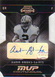 2001 Playoff Contenders MVP Contenders Autographs #11 Aaron Brooks