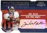 2001 Playoff Contenders Round Numbers Autographs Gold #4 Nate Clements/10/Will Allen No Auto