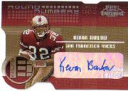 2001 Playoff Contenders Round Numbers Autographs Gold #12 Kevan Barlow/30/Travis Minor
