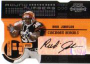 2001 Playoff Contenders Round Numbers Autographs Gold #14 Rudi Johnson/40/Correll Buckhalter