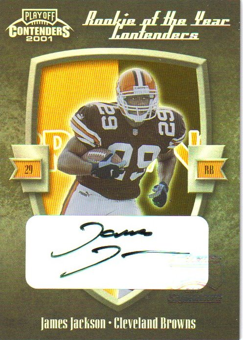 2001 Playoff Contenders ROY Contenders Autographs #9 James Jackson